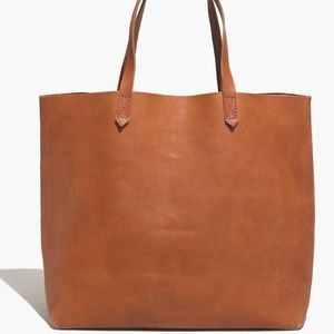 Madewell The Transport Leather Tote English Saddle